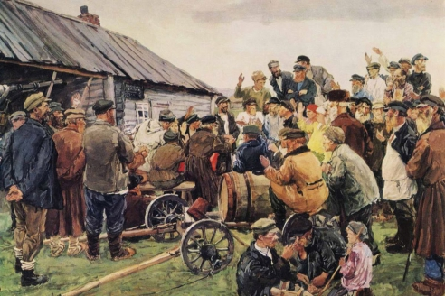 «Выбор Комитета бедноты». А.А. Пластов