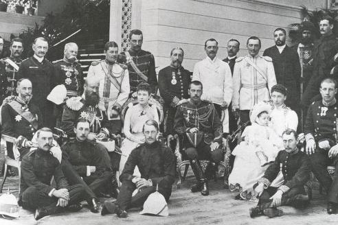 Цесаревич Николай Александрович в гостях у королевской семьи в Греции. 1891 г.