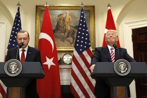 Первая встреча Д. Трампа с Р. Т. Эрдоганом