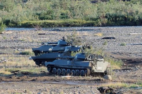 Самоходные артиллерийские установки на огневой позиции