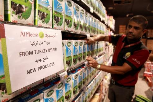 Турция поставила продовольствие Катару. 2017 г.