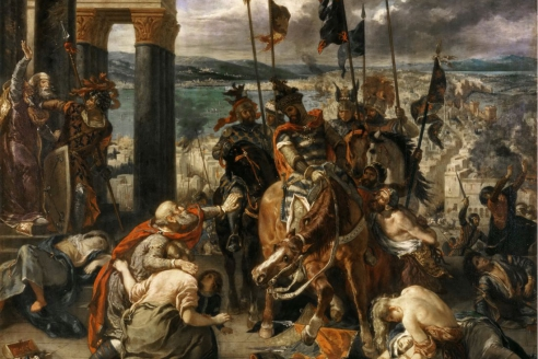 «Взятие Константинополя крестоносцами». Э. Делакруа