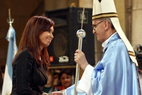 К. Киршнер на встрече с Папой Франциском