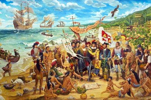 «Открытие Пуэрто-Рико в 1493 году». А. Кордеро