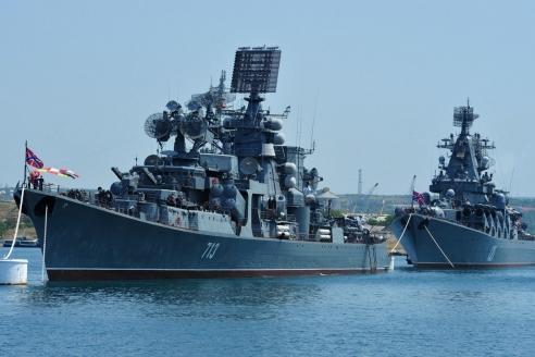 Корабли Черноморского флота на рейде