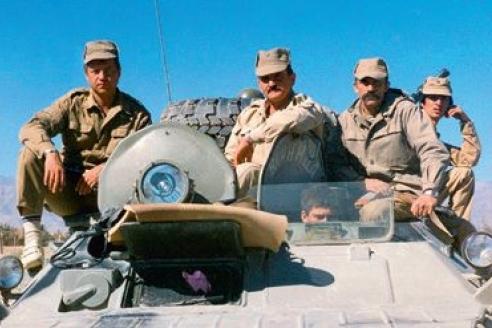 Н. Ковалёв с боевыми товарищами