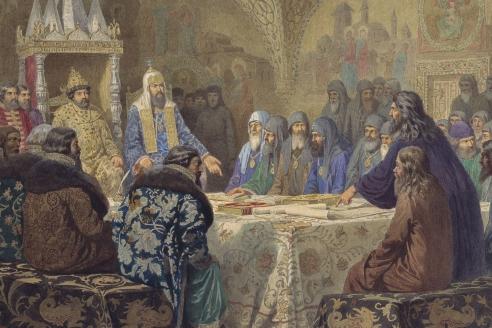 «Церковный собор. 1654 год. Начало раскола». А.Д. Кившенко