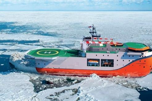 Самодвижущаяся ледовостойкая платформа «Северный полюс» (визуализация)