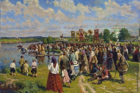 Маковский А. В. Крестный ход на Флора и Лавра. 1921 г.