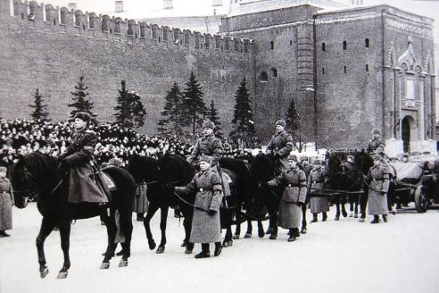 Сотрудники МУРа на похоронах И. Сталина