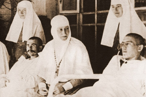 Преподобномученица Елизавета Фёдоровна Романова в госпитале