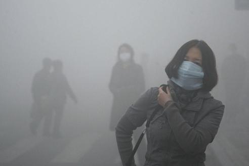 Смог в Пекине. 2014г.