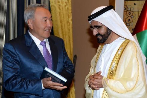 Почётный гость X Всемирного исламского экономического форума в Дубае, посвящённого исламскому бизнесу и финансам, президент Казахстана Н. Назарбаев. 2014 г.