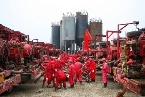 Добыча сланцевого газа в провинции Сычуань. Китай
