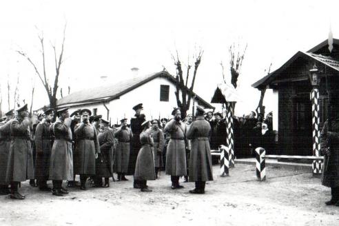 Приезд Николая II на главную базу ЭОН в г. Рени. 1915 г.