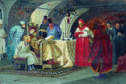 «Папские послы у Ивана Грозного». М.В. Нестеров.1884 г.