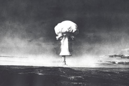 Момент одного из ядерных взрывов