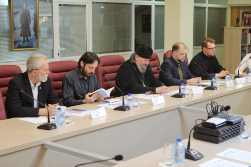 Участники конференции в помещении Общества «Двуглавый Орёл»