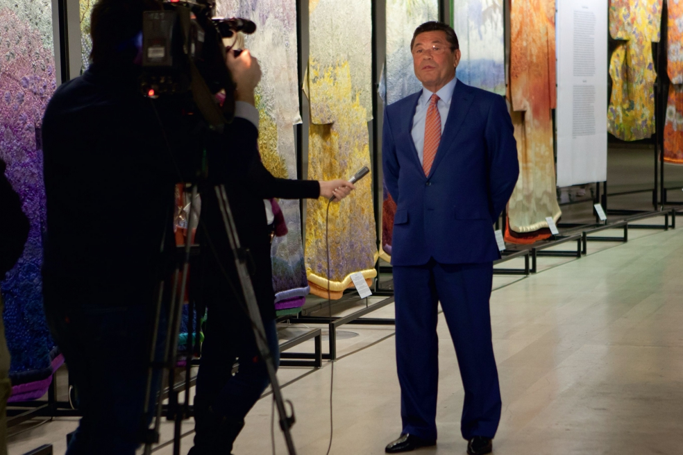 Открытие выставки коллекции кимоно Итику Куботы в Манеже. Москва, 2013 г.