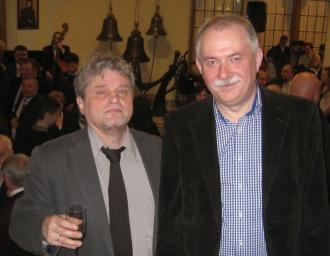 Генеральный директор Н.А. Кузнецов и член редколлегии И.Н. Шумейко на балу Союза журналистов России, январь 2016 г.