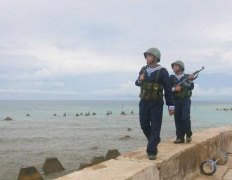 Вьетнамский морской патруль на о.Фан Винь архипелага Спратли