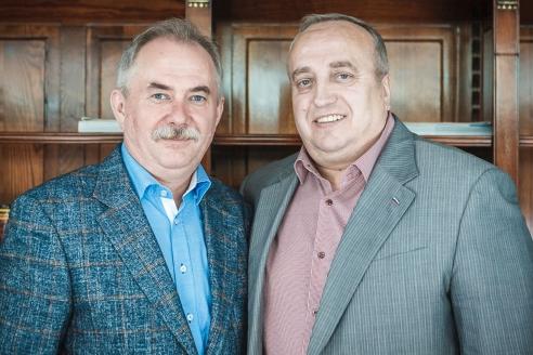 Ф.А. Клинцевич с генеральным директором МР Н.А. Кузнецовым, июль 2015 г.