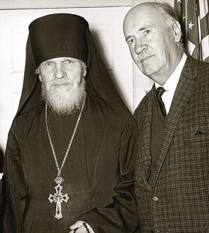 Свято‑Троицкий монастырь. Архимандрит Иосиф (Колос) и И. И. Сикорский