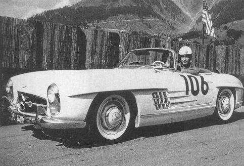 """Э. Фальц-Фейн выиграл горные гонки 1950 года в категории """"Мерседес"""""""