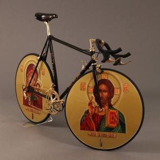 Предложение для олимпийской сборной России по велоспорту 1992 года от голландского художника Д. Брагина
