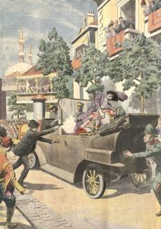 Убийство эрцгерцога Франца Фердинанда, наследника австро-венгерского престола, и его жены герцогини Софии Гогенберг в Сараево 28 июня 1914 г. стало поводом для начала Первой мировой войны
