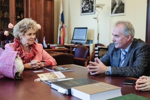 Г.В. Маяровская с генеральным директором МР Н.А. Кузнецовым,  сентябрь 2015 г.